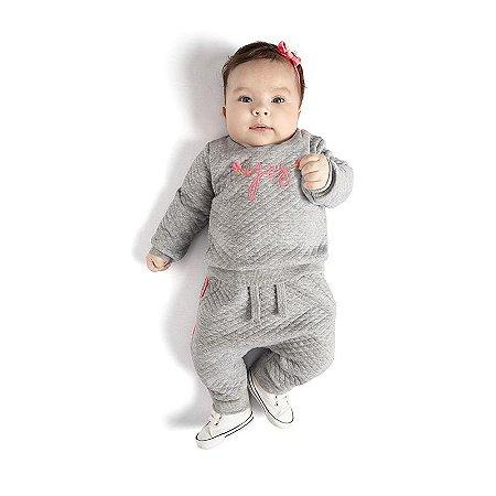 Conjunto Bebê Feminino Blusa - Saruel Matelasse TMX