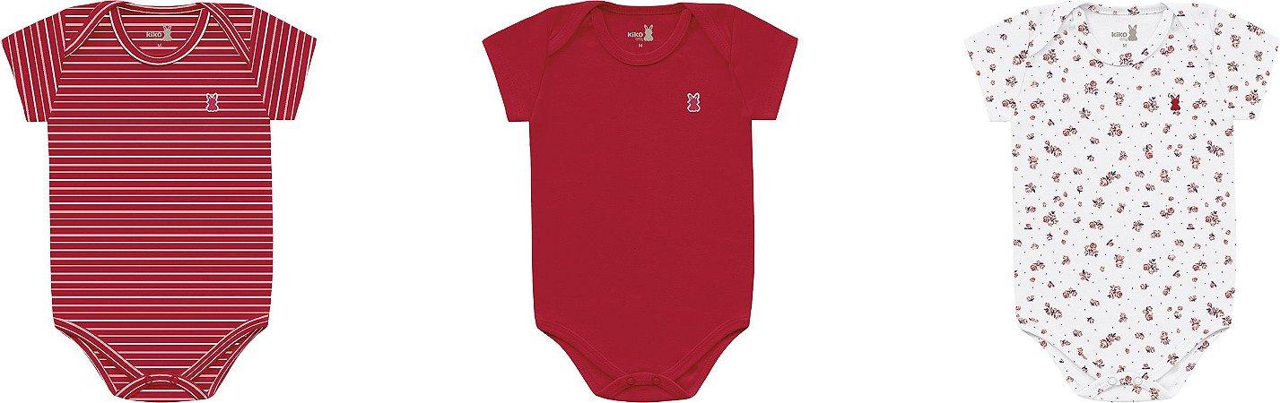 Kit body feminino vermelho