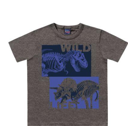 Camiseta Dinossauro Kiko e Kika