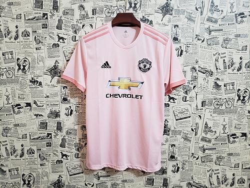 1da6ebf3bc194 Camisa Manchester United Away 2018 s/n° - Torcedor Adidas Masculina - Rosa