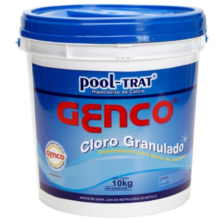 Genco Pool Trat Granulado 10 Kgs Balde Azul