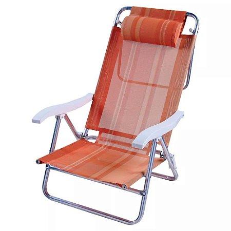 Cadeira Sol De Verão Reclinavel Fashion Mor - Ref 2126