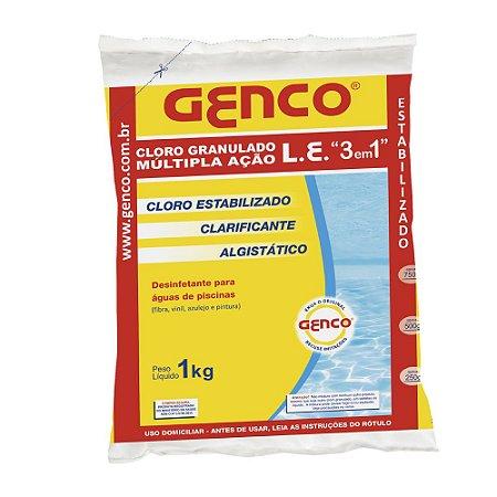 Genco L E Cloro Granulado Múltipla Ação 3em1 1kg Genco