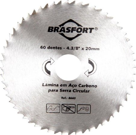 Serra Circular Mad 4.3/8 X 60 Dentes Brasfort 8660