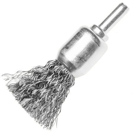 Escova De Aço Tipo Pincel Com Haste De 25 Mm