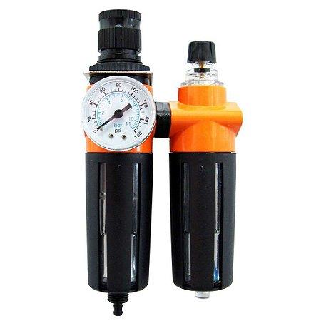 Filtro De Ar Para Compressor Com Regulador E Manômetro 1/4