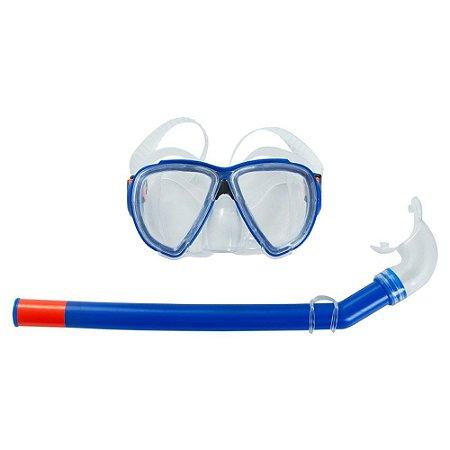 Snorkel Premium Com Máscara Azul Belfix 39700 Azul - Único