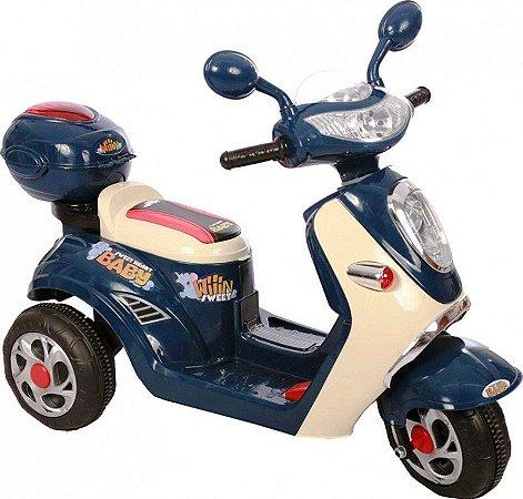 Moto Elétrica Infantil Lambreta Azul - Belfix 912700