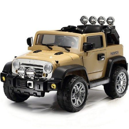Mini Jipe 2 Em 1 Veiculo Elétrico Trilha Caqui Infanfil 12v