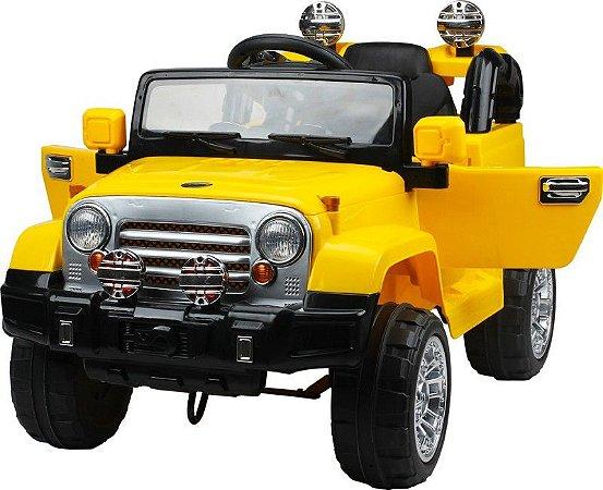 Novo Mini Jipe Elétrico Trilha Amarelo + Controle Remoto 12v