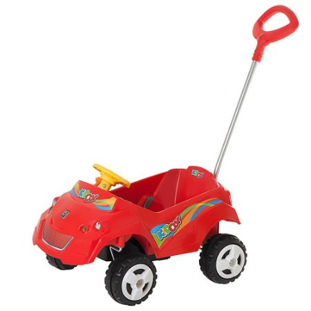 Kidcar Passeio E Andador Vermelho Ref 576