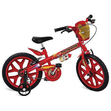 Bicicleta Infantil Aro 16 Bandeirante Homem De Ferro 2409