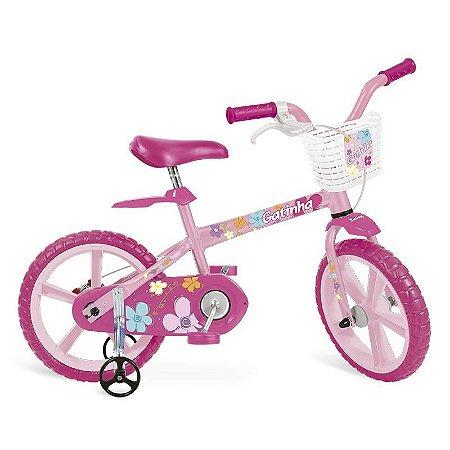 Bicicleta Infantil Gatinha Aro 14 Bandeirante 3012