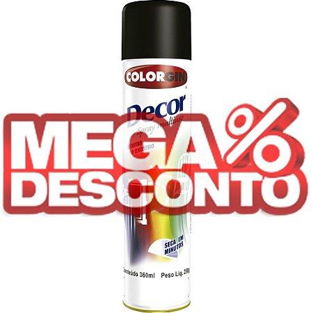 Tinta Spray Decor Preto Fosco 350ml - Colorgin