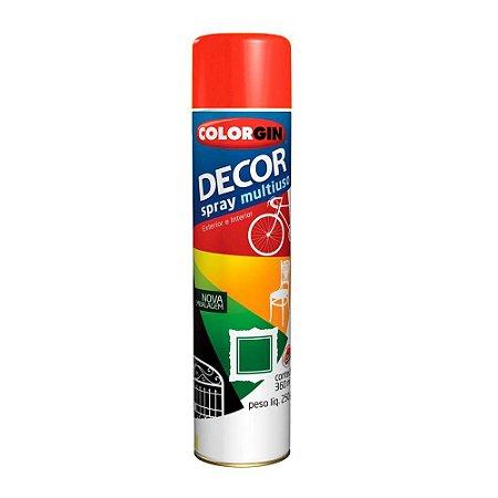 Tinta Spray Decor Vermelho 350ml - Colorgin