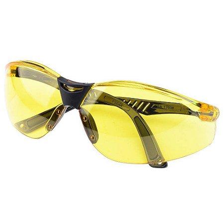 Oculos De Segurança Cayman Amarelo Carbografite
