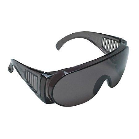 Óculos Segurança Epi Pro Vision Anti Riscos Cinza Carbografi