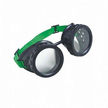 Óculos De Proteção Mod. Macariqueiro Redondo Carbografite
