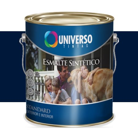 Tinta Universo Esmalte Sintetico Stand Azul Del Rey 3,6lts