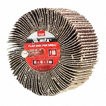 Roda Para Polimento - Pg Lixa (flap) Mini Mtx Grão 60 /80x40
