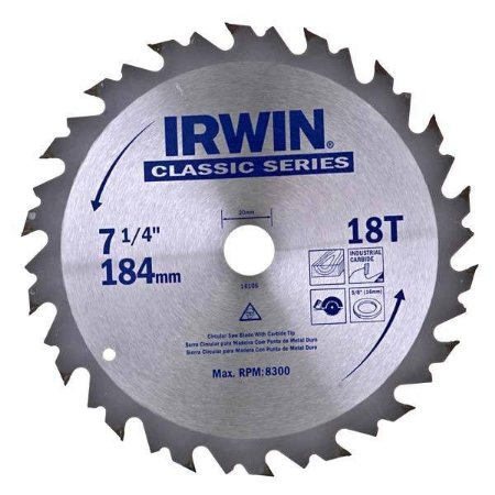 Disco Serra Circular Por 7.1/4 X 18 D X 20 Mm His1901b Irwin