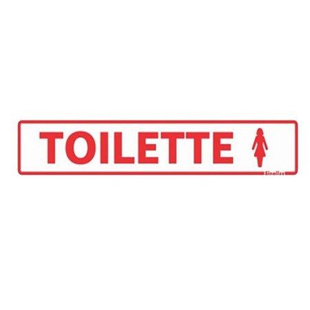 Placa De Sinalização Toilette Feminino Sinalize