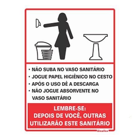 Placa 15x20 Poliestireno Procedimento Sanitário Feminino