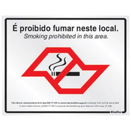 Placa Poliestireno 25x20 Proibido Fumar Lei Estadual