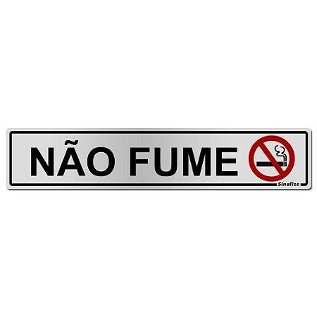 Placa Em Aluminio 5 X 25 Nao Fume