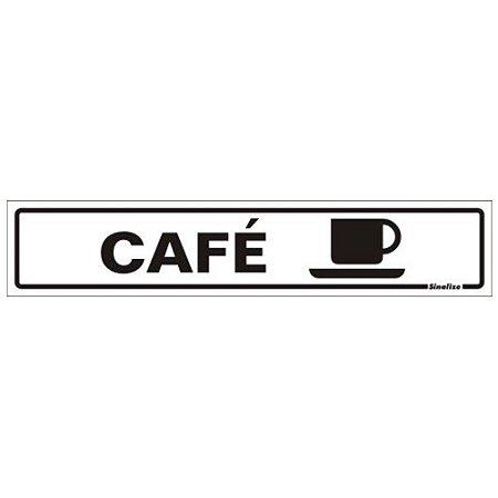 Placa De Sinalização Café Sinalize