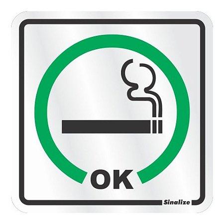 Placa Em Aluminio 15 X 15 Permitido Fumar