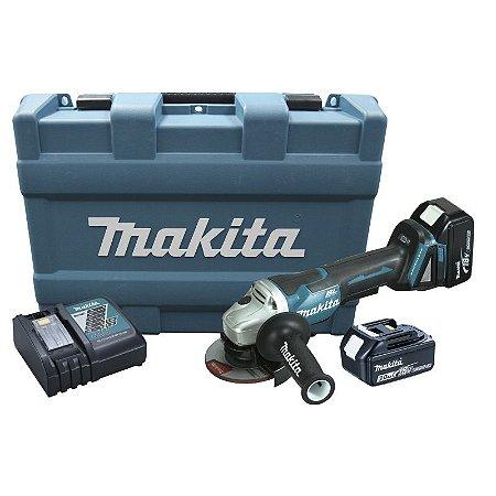 Esmirilhadeira A Bateria 18v Makita 4.1/2 Dga455rfe Bivolt