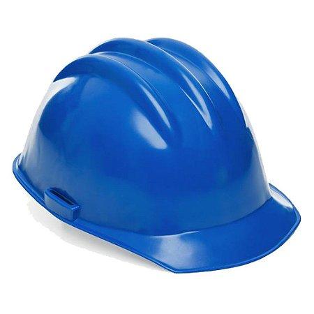 Capacete De Segurança Azul Com Carneira
