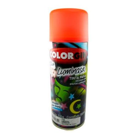 Tinta Spray Luminosa Vermelho 350ml - Colorgin