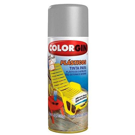 Tinta Spray Plástico Colorgin 350 Ml - Prata Metálico - 1522