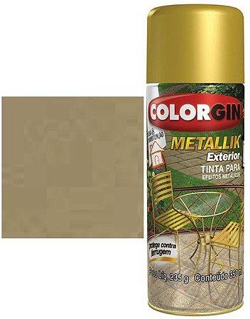 Tinta Spray Colorgin Metallik Exterior - Ouro Metálico 63
