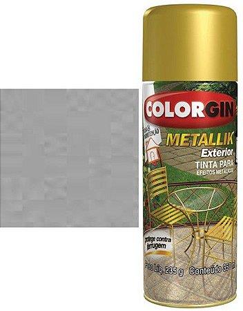 Tinta Spray Colorgin Metallik Exterior - Prata Metálico 64