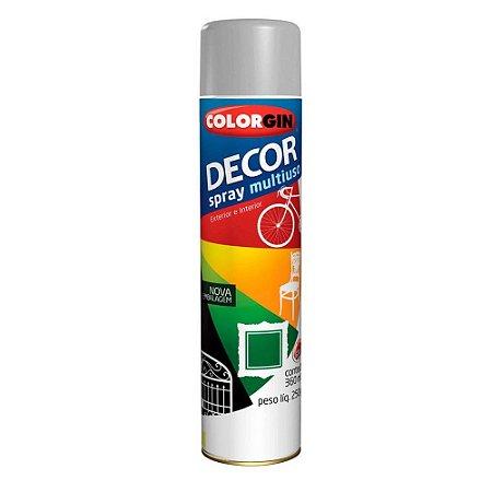 Tinta Spray Colorgin Decor Uso Geral 8651 Cinza 350ml