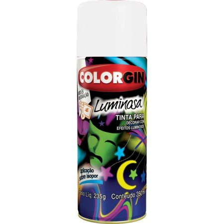 Tinta Spray Luminosa Brilhosa - Fundo Branco Colorgin