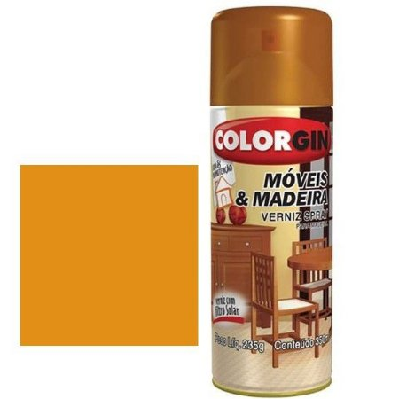 Tinta Spray Colorgin P/ Moveis E Madeiras Natural Fosco 787