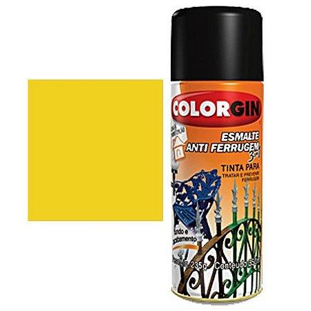 Tinta Spray Colorgin Esmalte Antiferrugem 3 X 1 Amerelo