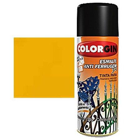 Tinta Spray Colorgin Esmalte Antiferrugem 3 X 1 Amarelo Ouro