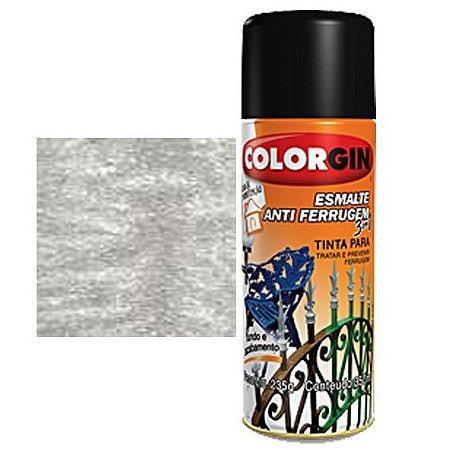Tinta Spray Colorgin Esmalte Antiferrugem 3 X 1 Aluminio