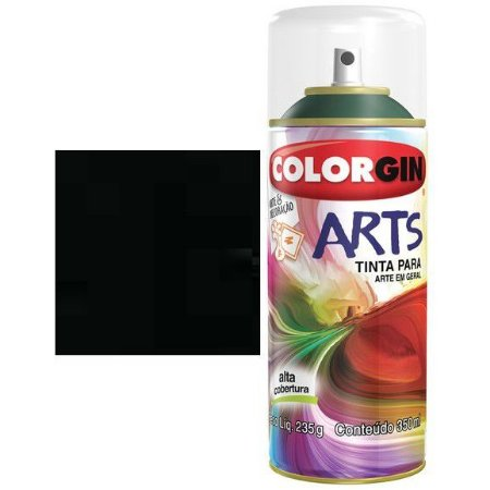 Colorgin Spray Arts P/grafiteiro Preto 651