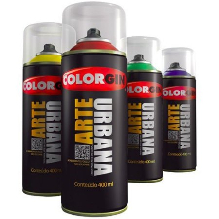 Spray Tinta Graffiti Arte Urbana Colorgin Cinza Claro