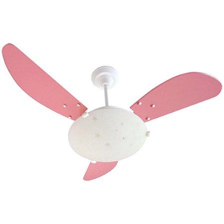 Ventilador Kids Branco 127v 3 Pás Rosa Cv 130w - Arge