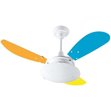 Ventilador Kids Branco / Colorido 220 V - Ref 1506