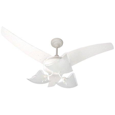 Ventilador Teto Lumina Branco/branco 3p 127 V - Ref 1607