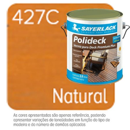 Verniz Para Deck Polideck Natural 427c 3,6 Litros Sayerlack