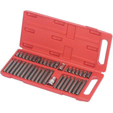 Jogo De Bits Completo 40 Pecas Box Plastico - Vip Industrial